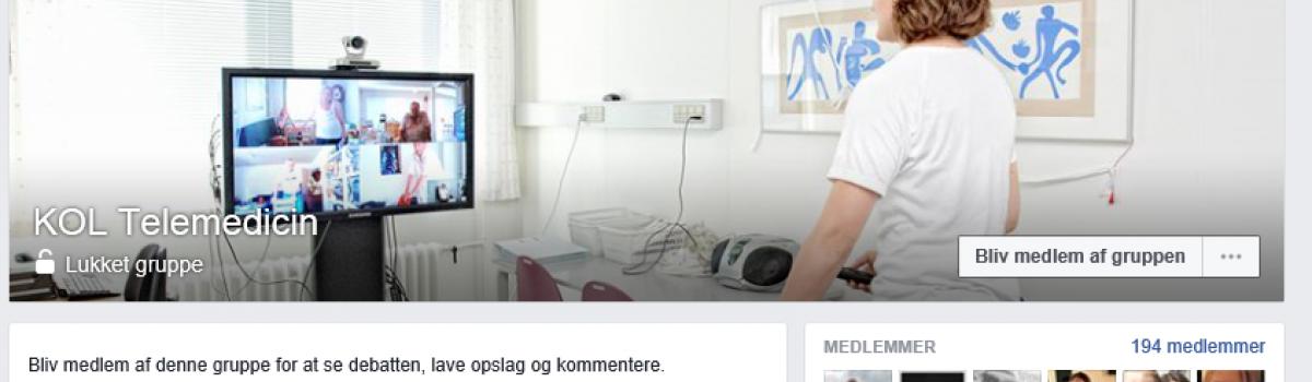 KOL Telemedicin: En Facebook gruppe for fagprofessionelle