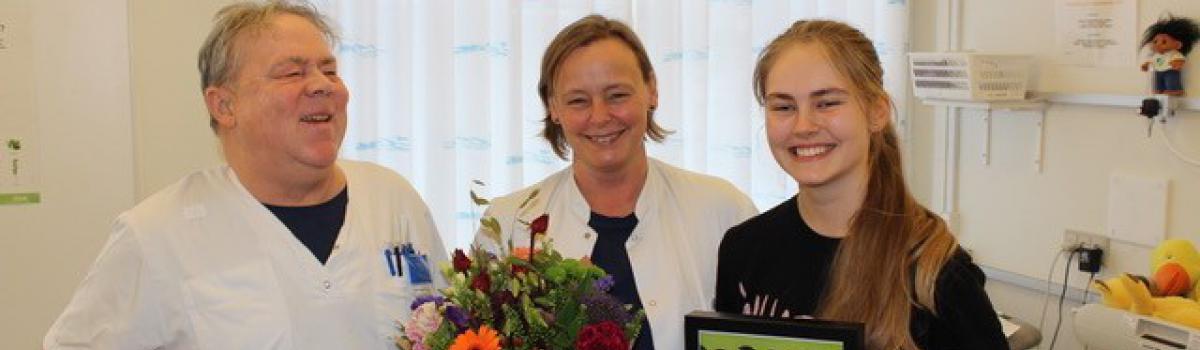 Børnelungefonden og Lungeforeningens Netværk Lungebarn ønsker Lisbeth tillykke