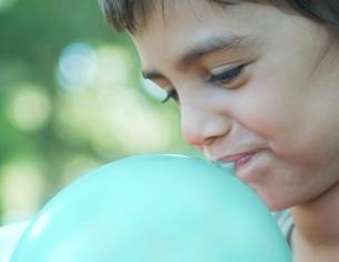 Lungefunktion måles ved en lungefunktionsmåling
